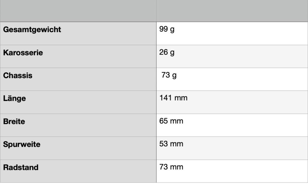 RevoSlot Porsche 911 GT2 Maße ootb